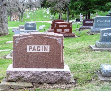PAGIN, CYRUS J. FAMILY STONE - Winneshiek County, Iowa | CYRUS J. FAMILY STONE PAGIN