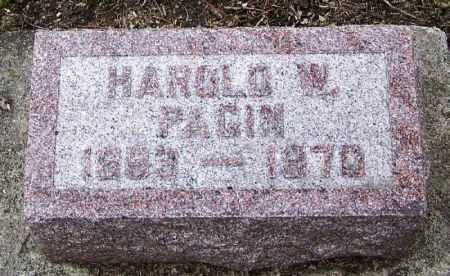 PAGIN, HAROLD W. - Winneshiek County, Iowa | HAROLD W. PAGIN