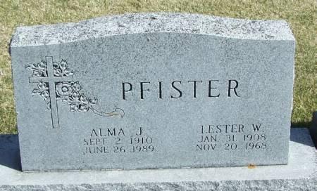 PFISTER, LESTER W - Winneshiek County, Iowa | LESTER W PFISTER