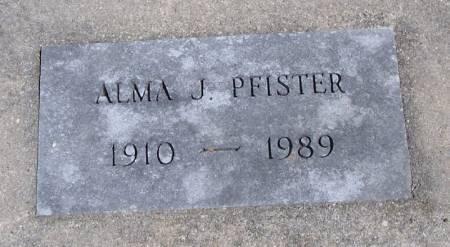 PFISTER, ALMA J - Winneshiek County, Iowa | ALMA J PFISTER