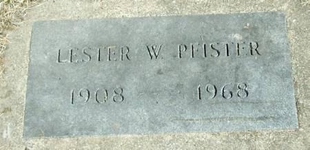 PFISTER, LESTER W - Winneshiek County, Iowa   LESTER W PFISTER