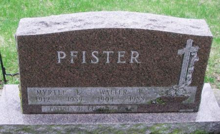 PFISTER, WALTER R. - Winneshiek County, Iowa | WALTER R. PFISTER