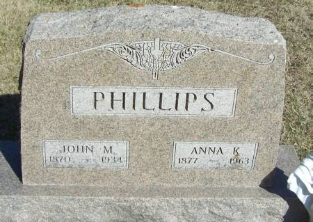PHILLIPS, ANNA K - Winneshiek County, Iowa | ANNA K PHILLIPS
