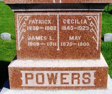 POWERS, CECILIA - Winneshiek County, Iowa   CECILIA POWERS