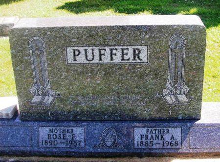 PUFFER, FRANK A. - Winneshiek County, Iowa   FRANK A. PUFFER
