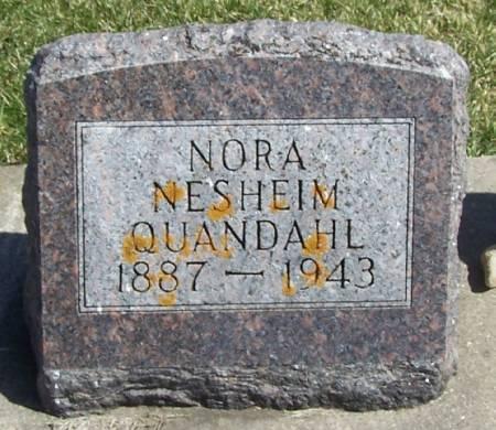 NESHEIM QUANDAHL, NORA - Winneshiek County, Iowa | NORA NESHEIM QUANDAHL