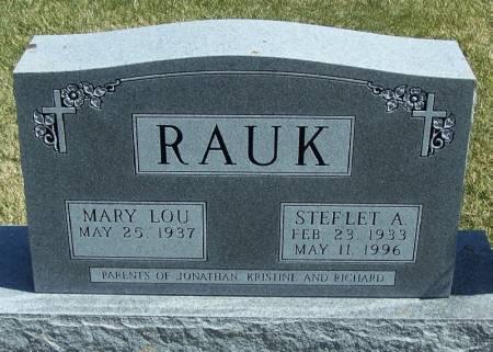 RAUK, STEFLET A - Winneshiek County, Iowa | STEFLET A RAUK