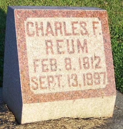 REUM, CHARLES F - Winneshiek County, Iowa | CHARLES F REUM