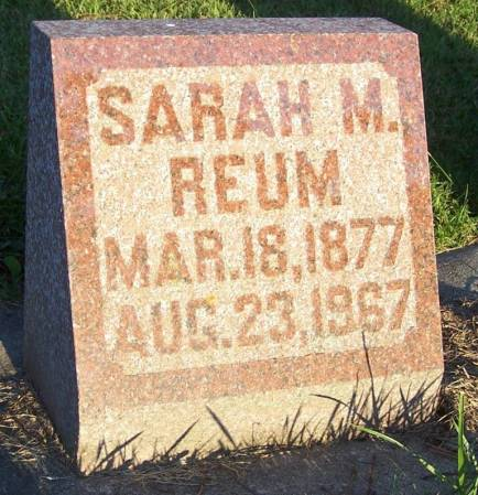 REUM, SARAH M - Winneshiek County, Iowa | SARAH M REUM