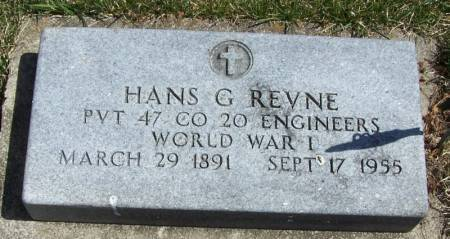 REVNE, HANS G - Winneshiek County, Iowa   HANS G REVNE