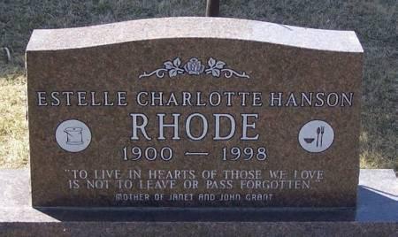 RHODE, ESTELLE CHARLOTTE HANSON - Winneshiek County, Iowa | ESTELLE CHARLOTTE HANSON RHODE