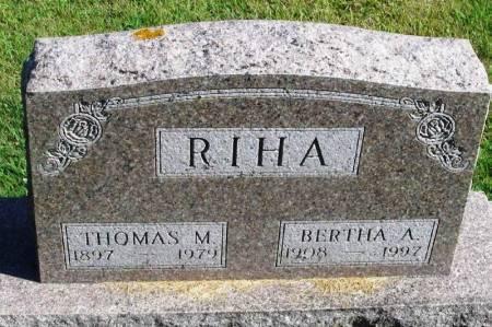 RIHA, THOMAS M. - Winneshiek County, Iowa   THOMAS M. RIHA