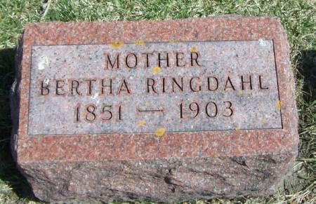 RINGDAHL, BERTHA - Winneshiek County, Iowa | BERTHA RINGDAHL