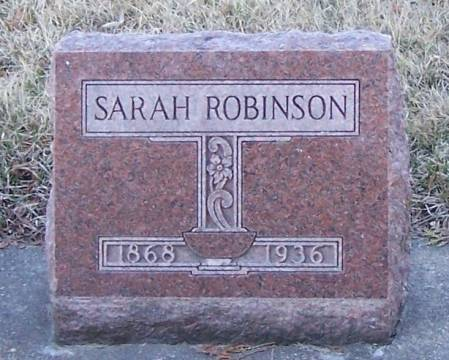 ROBINSON, SARAH - Winneshiek County, Iowa   SARAH ROBINSON