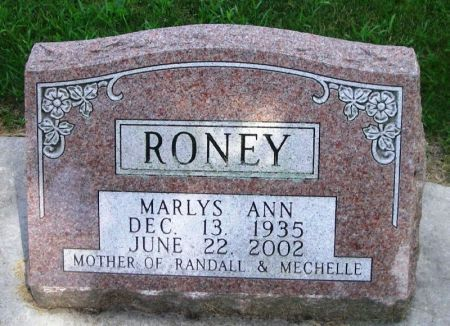 RONEY, MARLYS ANN - Winneshiek County, Iowa | MARLYS ANN RONEY