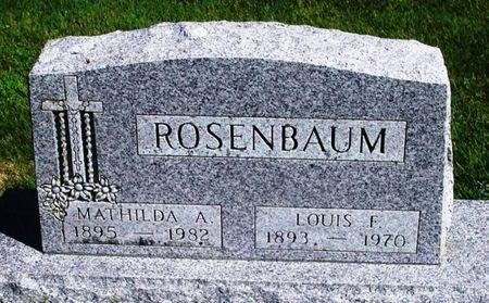 ROSENBAUM, MATHILDA A. - Winneshiek County, Iowa | MATHILDA A. ROSENBAUM