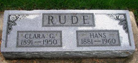 RUDE, HANS - Winneshiek County, Iowa   HANS RUDE