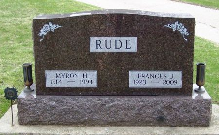 RUDE, FRANCES J. - Winneshiek County, Iowa | FRANCES J. RUDE