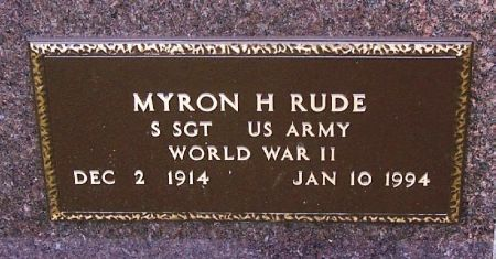 RUDE, MYRON H. - Winneshiek County, Iowa | MYRON H. RUDE