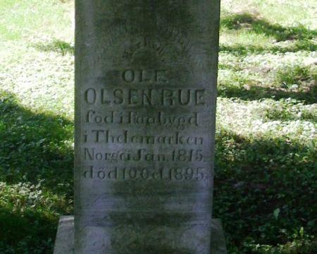 RUE, OLE OLSON - Winneshiek County, Iowa | OLE OLSON RUE