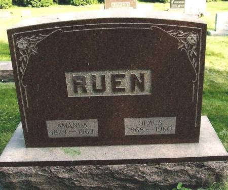 RUEN, OLAUS - Winneshiek County, Iowa   OLAUS RUEN