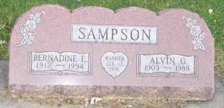 SAMPSON, ALVIN G - Winneshiek County, Iowa | ALVIN G SAMPSON