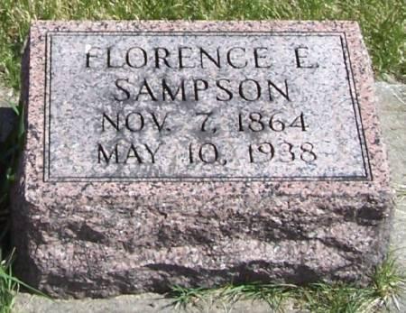 SAMPSON, FLORENCE E - Winneshiek County, Iowa   FLORENCE E SAMPSON
