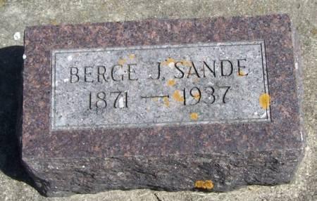 SANDE, BERGE J - Winneshiek County, Iowa | BERGE J SANDE