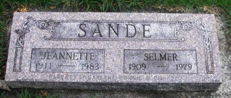 SANDE, JEANNETTE - Winneshiek County, Iowa | JEANNETTE SANDE