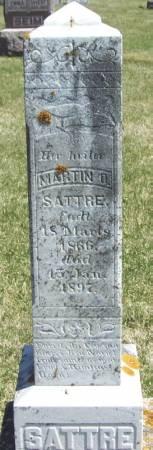 SATTRE, MARTIN O - Winneshiek County, Iowa   MARTIN O SATTRE