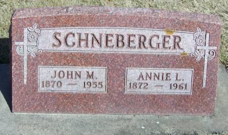 SCHNEBERGER, ANNIE L - Winneshiek County, Iowa | ANNIE L SCHNEBERGER
