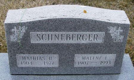 SCHNEBERGER, MALENE L. - Winneshiek County, Iowa   MALENE L. SCHNEBERGER