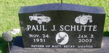 SCHUTTE, PAUL J. - Winneshiek County, Iowa | PAUL J. SCHUTTE