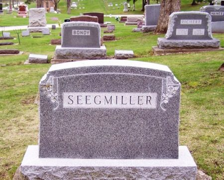 SEEGMILLER, GIDEON FAMILY STONE - Winneshiek County, Iowa | GIDEON FAMILY STONE SEEGMILLER