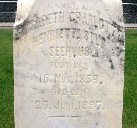 SEEHUUS, ELISABETH CHARLOTTE HENRIETTE STUB - Winneshiek County, Iowa | ELISABETH CHARLOTTE HENRIETTE STUB SEEHUUS