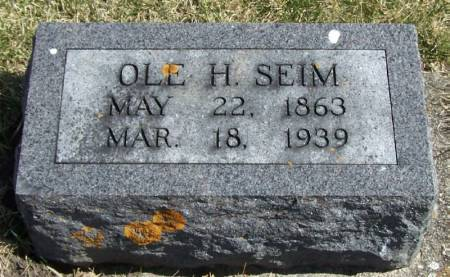SEIM, OLE H - Winneshiek County, Iowa | OLE H SEIM