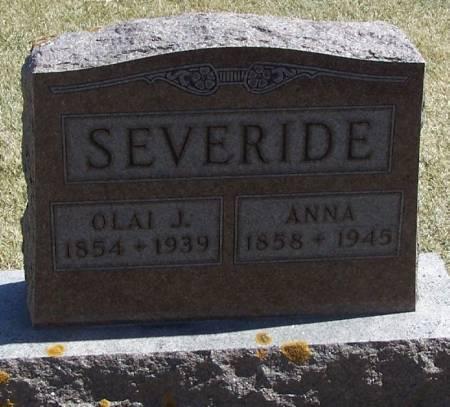 SEVERIDE, ANNA - Winneshiek County, Iowa | ANNA SEVERIDE