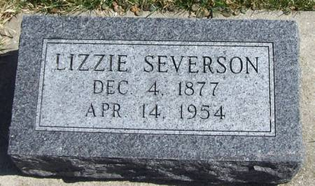 SEVERSON, LIZZIE - Winneshiek County, Iowa   LIZZIE SEVERSON