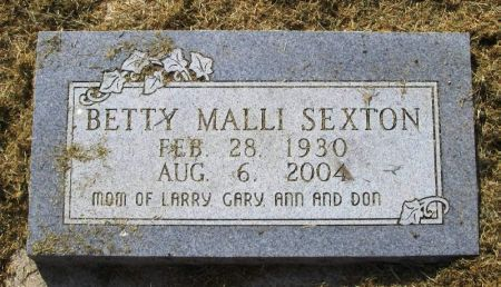 SEXTON, BETTY - Winneshiek County, Iowa   BETTY SEXTON