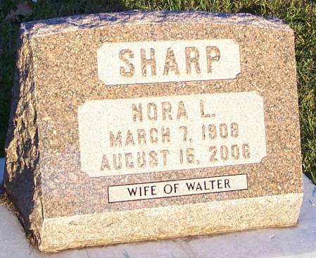 SHARP, NORA L - Winneshiek County, Iowa | NORA L SHARP