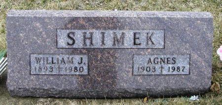 SHIMEK, AGNES - Winneshiek County, Iowa   AGNES SHIMEK