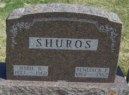 SHUROS, MARIE B - Winneshiek County, Iowa | MARIE B SHUROS