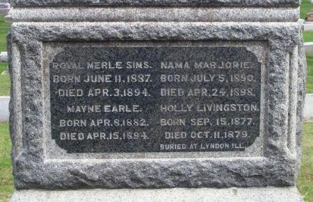 SIMS, ROYAL MERLE - Winneshiek County, Iowa | ROYAL MERLE SIMS