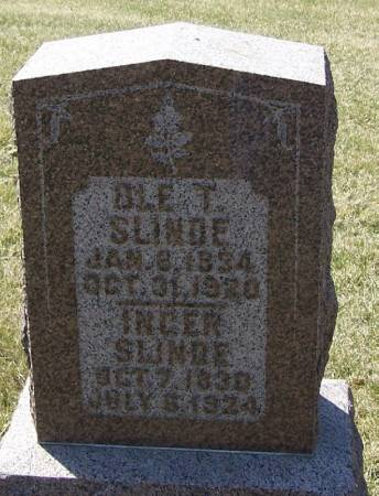 SLINDE, INGER - Winneshiek County, Iowa | INGER SLINDE
