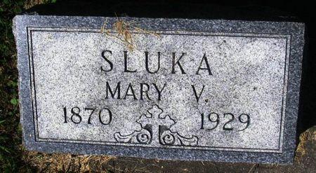 SLUKA, MARY V. - Winneshiek County, Iowa | MARY V. SLUKA