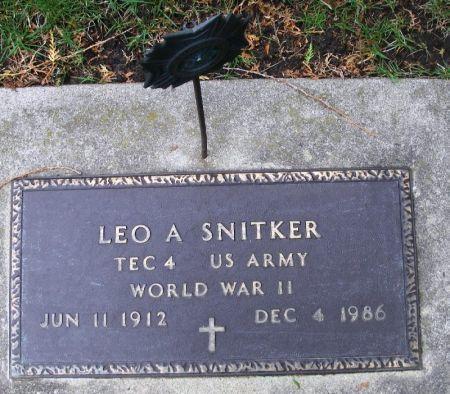 SNITKER, LEO A. - Winneshiek County, Iowa   LEO A. SNITKER