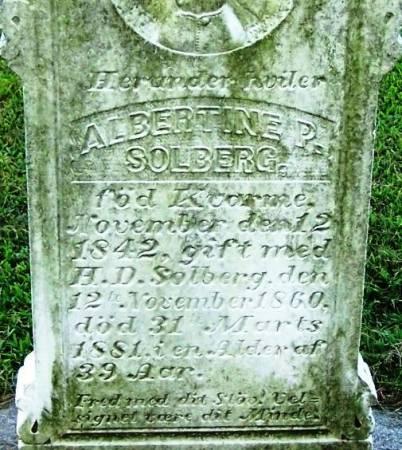 SOLBERG, ALBERTINE P. - Winneshiek County, Iowa | ALBERTINE P. SOLBERG