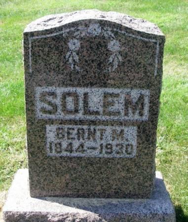SOLEM, BERNT. M. - Winneshiek County, Iowa | BERNT. M. SOLEM