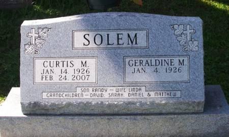 SOLEM, CURTIS M. - Winneshiek County, Iowa   CURTIS M. SOLEM
