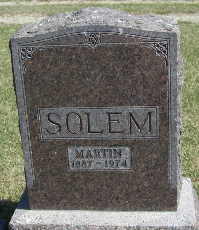 SOLEM, MARTIN - Winneshiek County, Iowa | MARTIN SOLEM